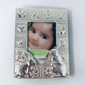 Baby Silver Chrome Embossed Photo Keepsake Album